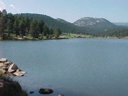 evergreen lake, Colorado