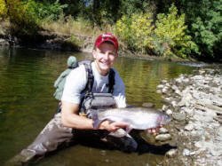 Fishing Colorado rainbow trout